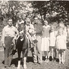 1943 or 1944 - Holly Vollenweider and girls, Art and Alice Vollenweider and kids
