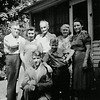 1930's - front: Bill Voas & son, Bobby; back: Will Shirley, unknown, Grandpa Barger, Grace Shirley, Pearl Voas - at Algona, IA