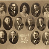 """1927 - top row: Evelyn Tanner, Holland Vollenweider; middle row, 2nd from right: Clarence """"Dick"""" Voas"""