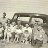 """1938 - FL Voas gathering - Evelyn """"Tiny"""", Clarence """"Dick"""", Catherine holding Marjorie, Gma Pearl and Gpa Frank holding Don, Joyce """"Jack"""" holding JoAnn, Robert """"Bob"""" and Will """"Bill"""""""