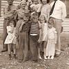 1942 - front: Marjorie and Don Voas, Jim Peterson, Beth and Larry Vollenweider; back: Wm A Vollenweider, Gma Pearl Voas,Dwaine being held by Alice Vollenweider